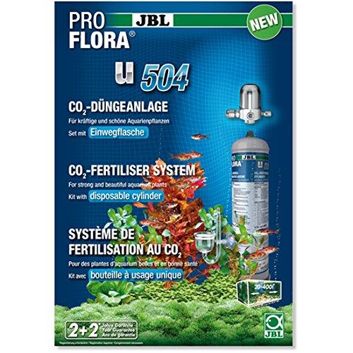 JBL ProFlora u504 Komplett CO₂-Düngeanlage mit 500 g Einwegflasche