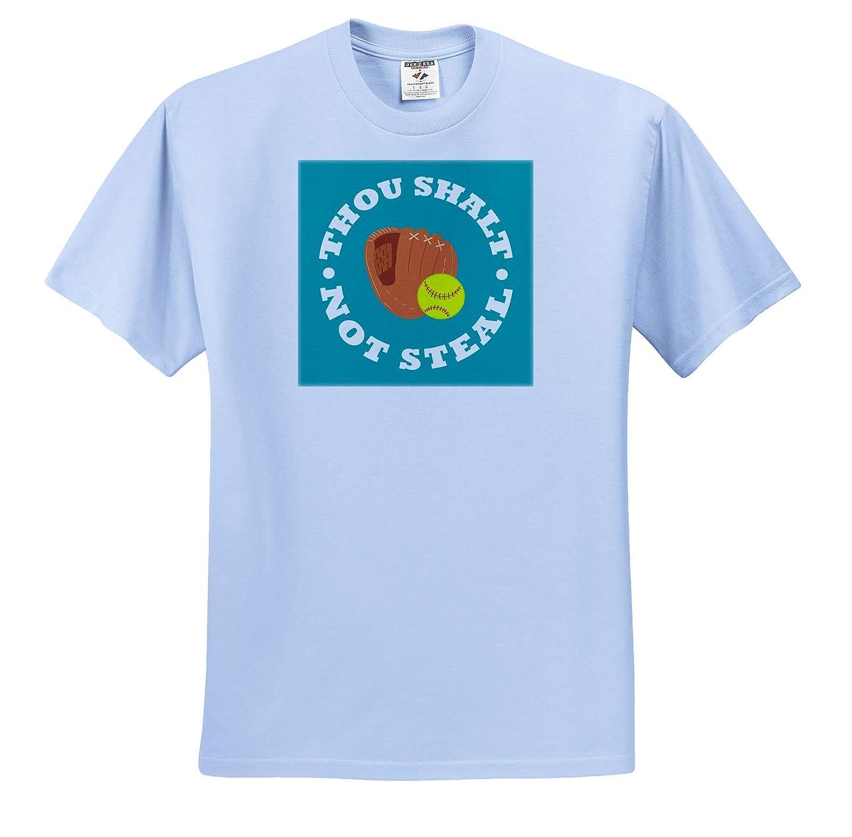 Adult T-Shirt XL Softball Catcher ts/_310678 Thou Shalt Not Steal 3dRose Janna Salak Designs Sports