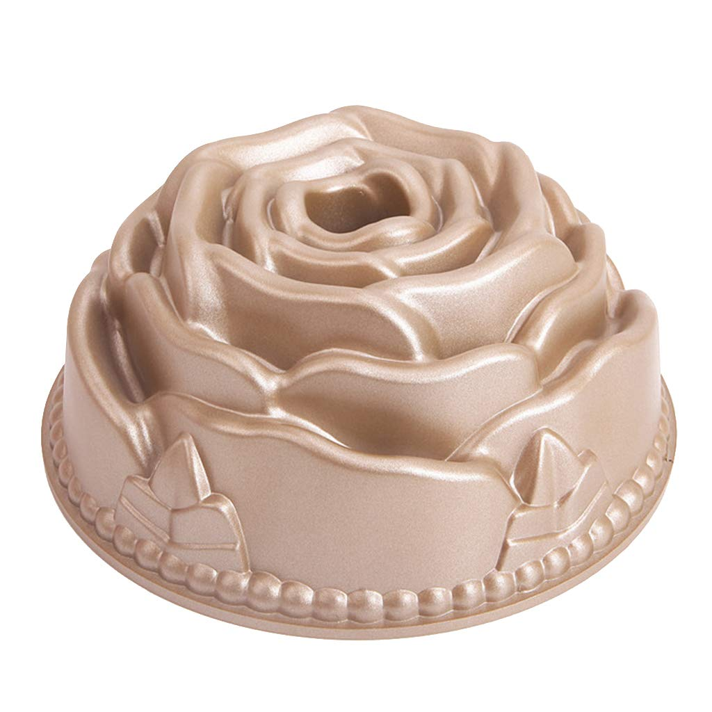 SM SunniMix Flower Shape Cake Pan Nonstick Baking Pan Homemade Round Cake Mold Decorating for Cake, Muffin, Pie, Meatloaf, Bread