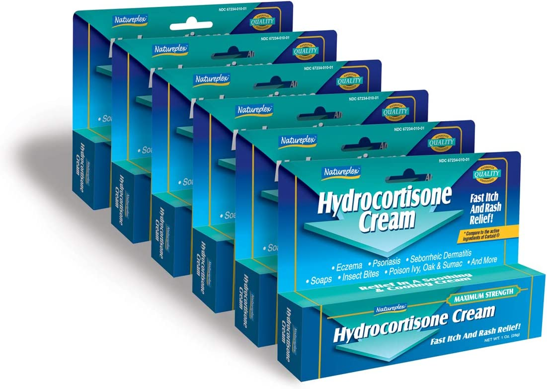 Hydrocortisone Cream Fast Itch and Rash Relief 6 Pack