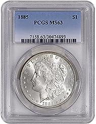 1885 US Morgan Silver Dollar $1 MS63 PCGS