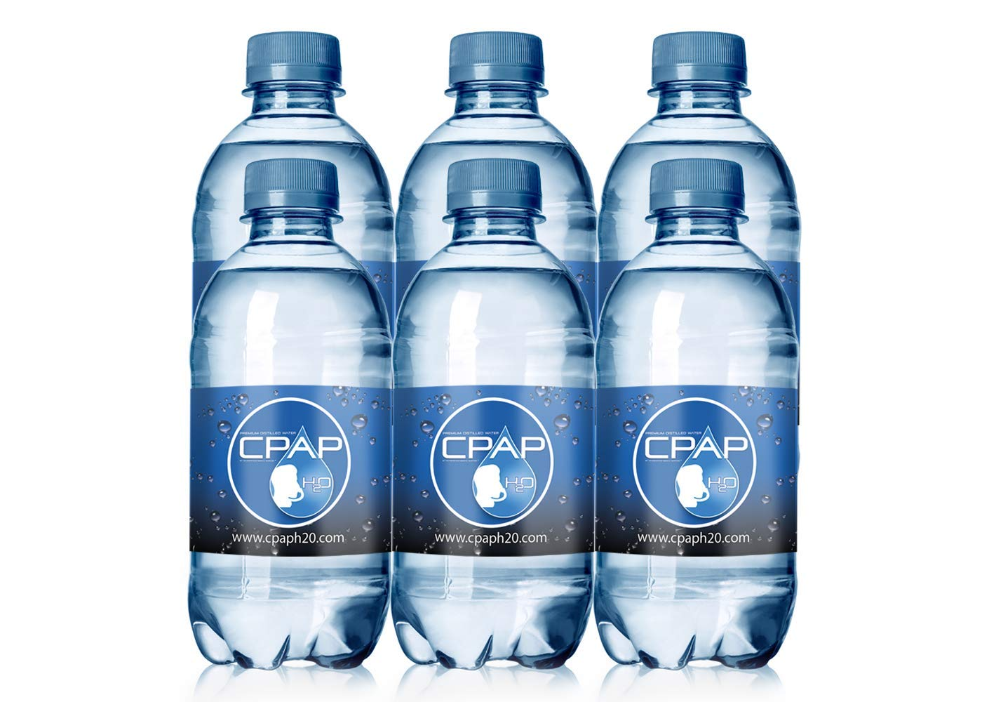 12oz CPAP H2O Premium Distilled Water (6 Bottle Pack) by CPAP H20 (Image #1)