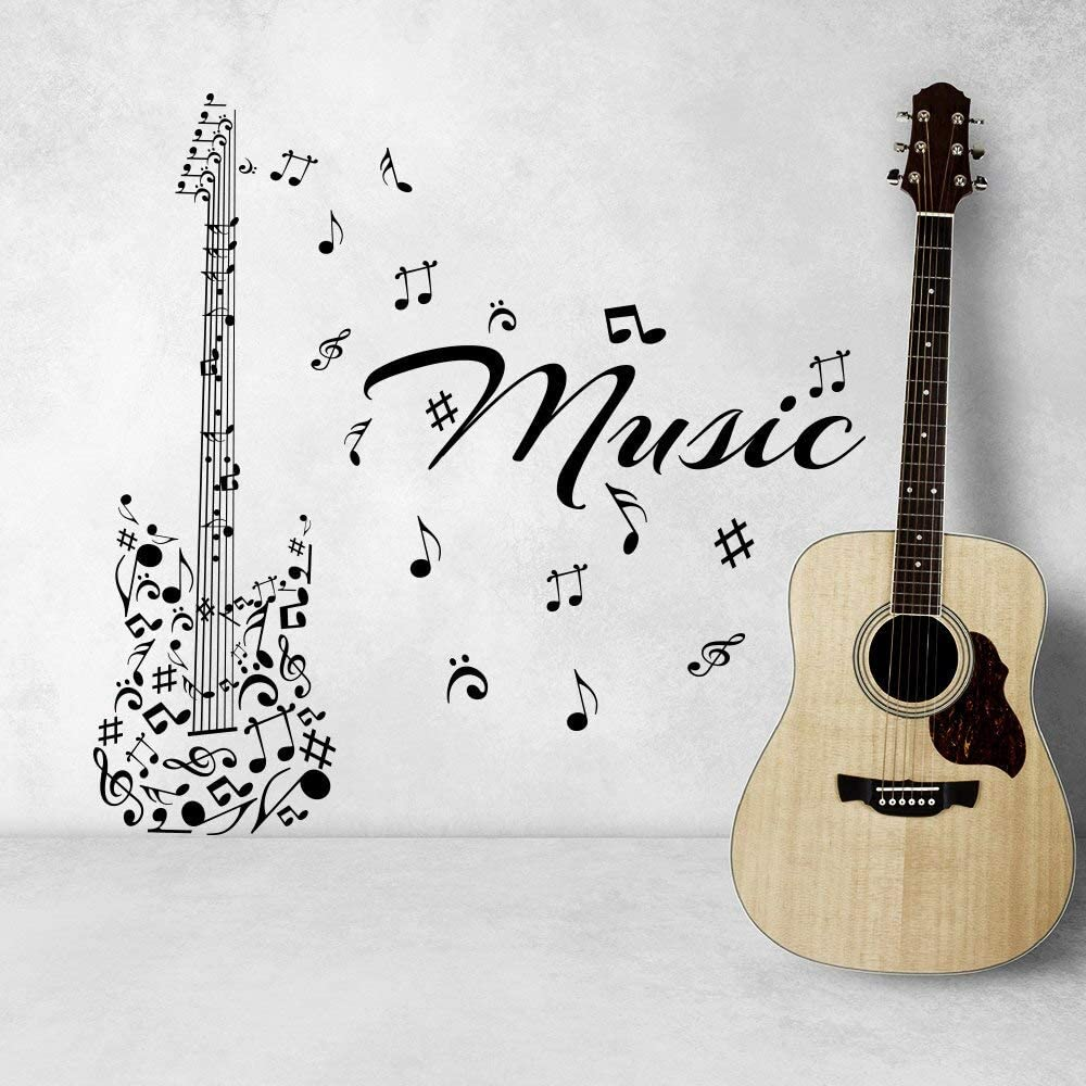 yiyitop Serie Musical Arte Tatuajes de Pared Notas Musicales con ...