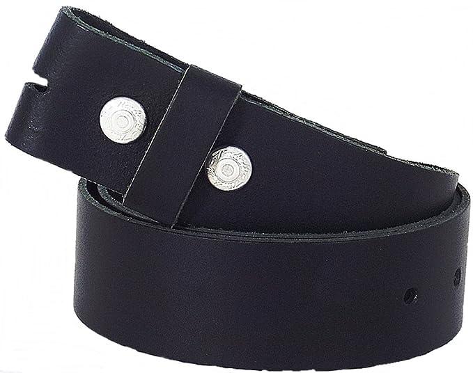 Cambio Cinturón botón cinturón negro 75 - 140 cm 100% de piel Cinturón   Amazon.es  Ropa y accesorios 977f216dfcb8