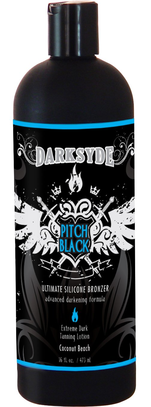 Darksyde Pitch Black Ultimate Silicone Bronzer Tanning Lotion 16oz