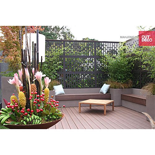 5/16 in. x 24 in. x 48 in. Mahjong Modular Decorative Hardwood Composite Fence Panel (Aluminum Modular Panel)