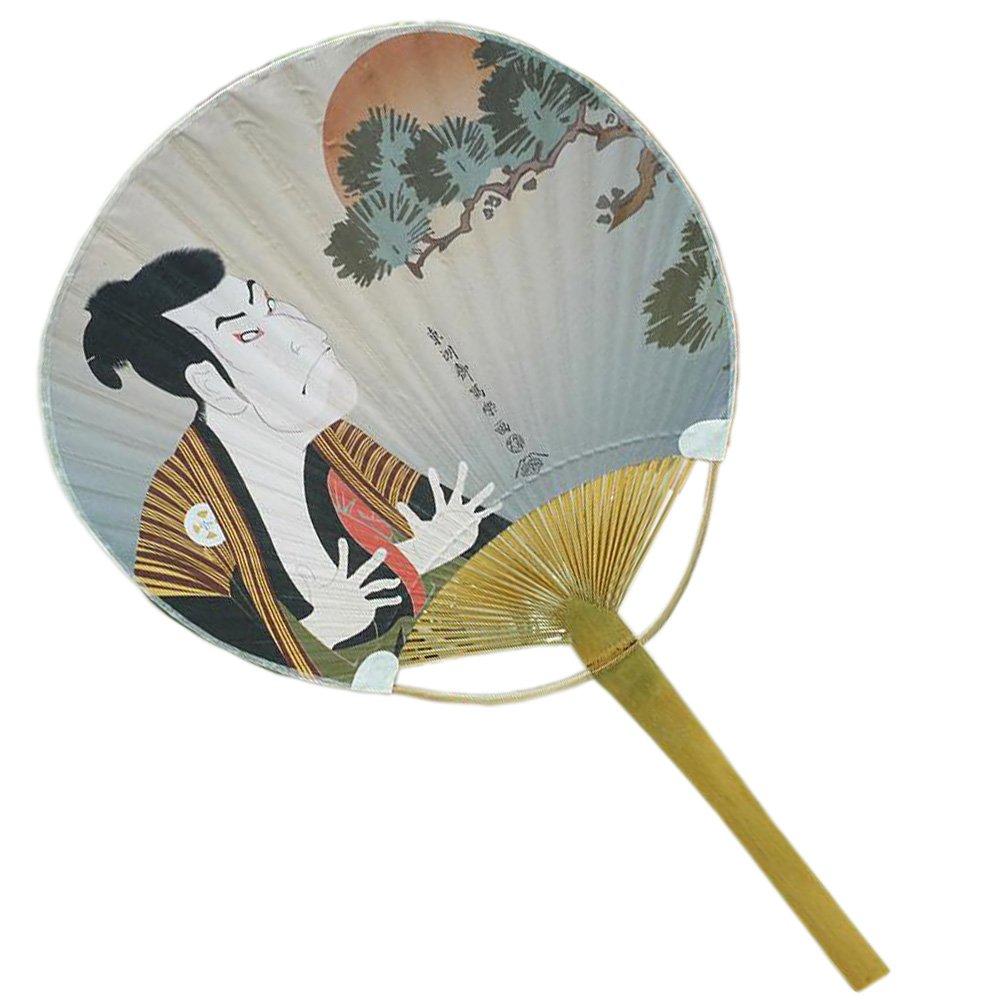 Sch?ne japanische Art-Hand Fan Holz Handventilator Griff, No.3