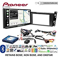 Volunteer Audio Pioneer AVIC-W8400NEX Double Din Radio Install Kit with Navigation, Apple CarPlay and Android Auto Fits 2006-2010 Cadillac DTS