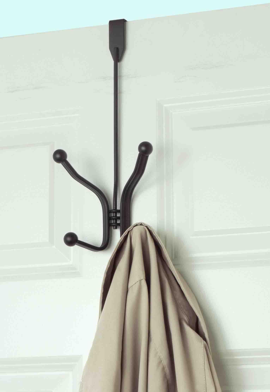 Home Basics Over The Door Double Towel Hook, Bronze