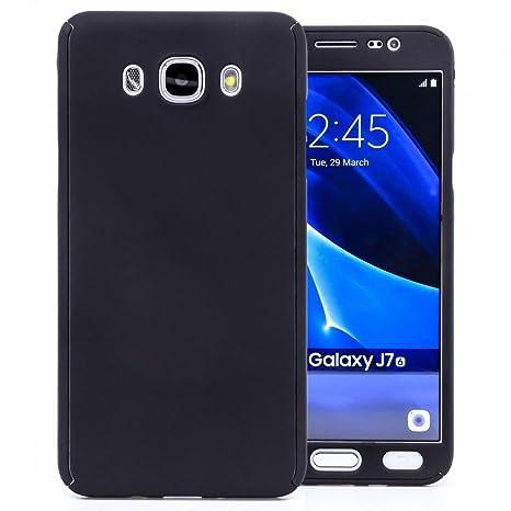 COOVY® Funda para Samsung Galaxy J7 SM-J710 / SM-J710FN / SM-J710F/DS (Model 2016) 360 Grados, Carcasa Ultrafina y Ligera, con Protector de Pantalla, ...