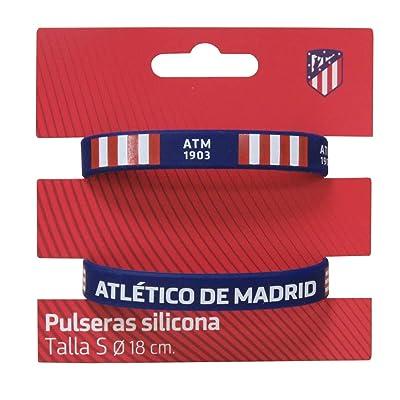 Atletico DE Madrid Set de 2 Pulseras de Silicona tamaño Infantil: Juguetes y juegos
