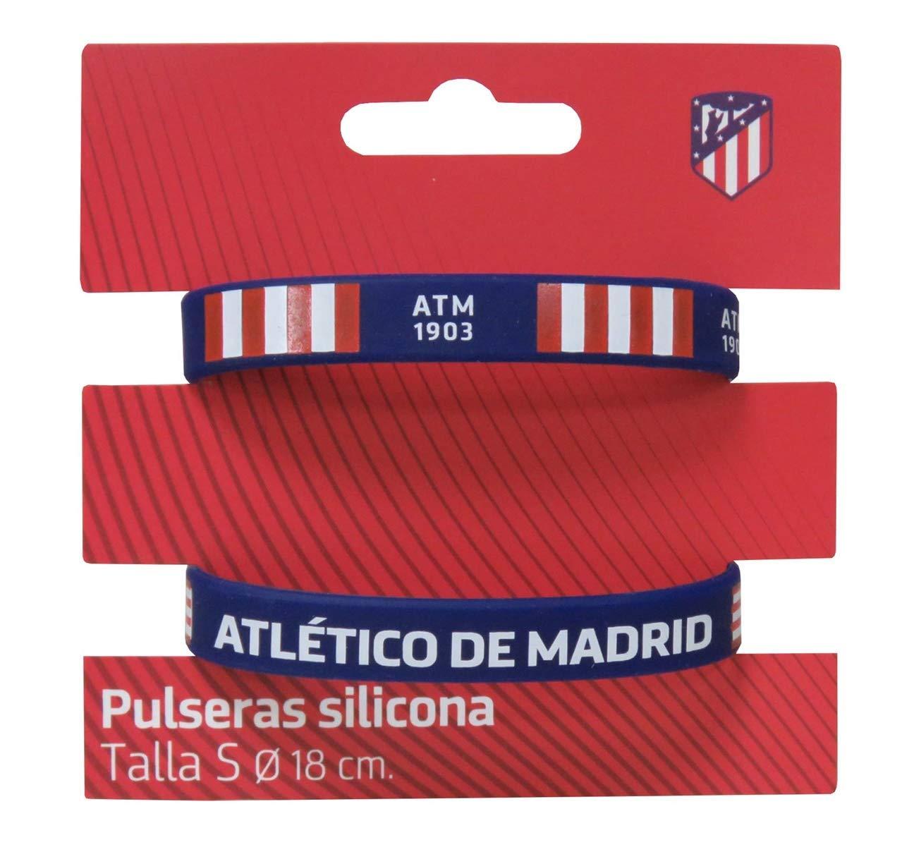 Atletico DE Madrid Set de 2 Pulseras de Silicona tamaño Infantil