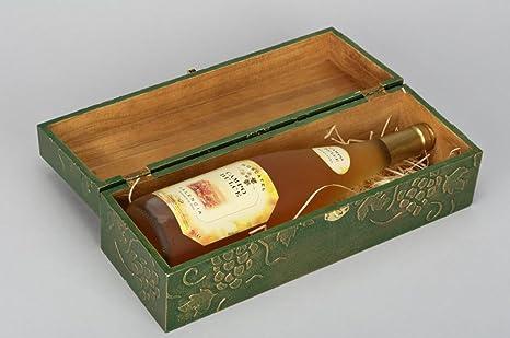 Caja para botella caja para vino caja de madera caja Decoupage