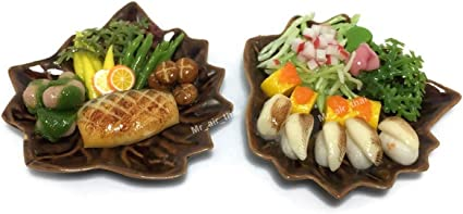 Dollhouse Miniatures Sushi tray Bento Lunch Food Deco 1:12 Collectibles Handmade