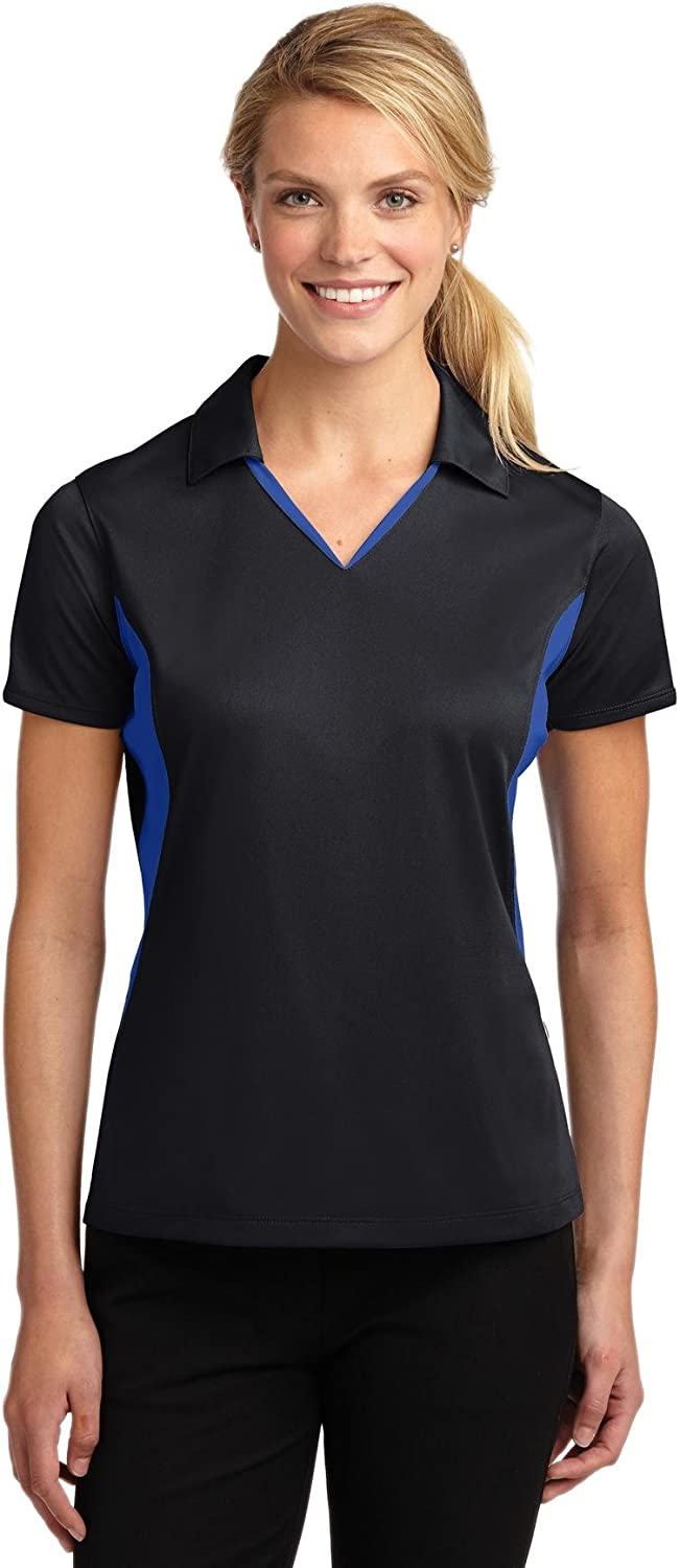 SPORT-TEK Women's Side Blocked Micropique Sport Wick Polo