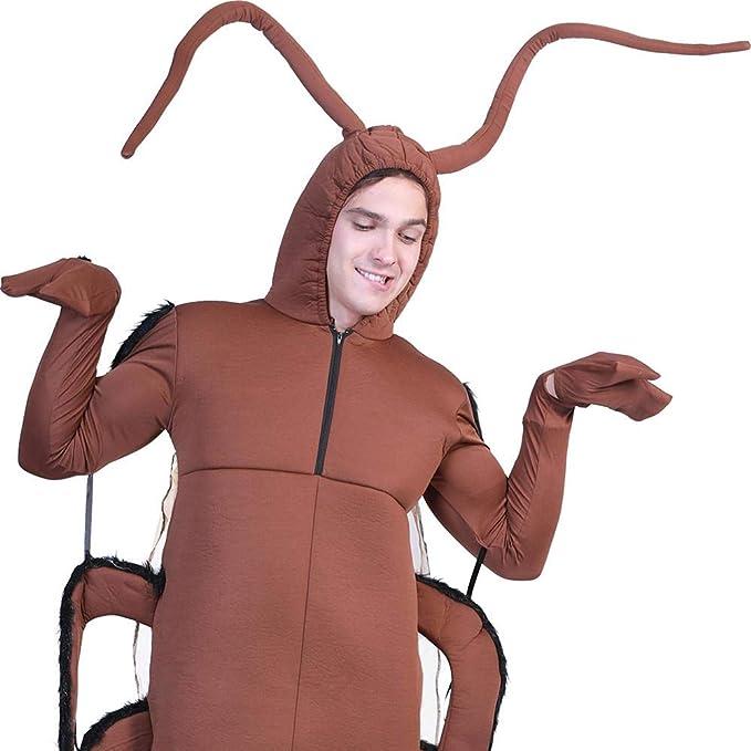 AFfeco - Traje de hombre de Cucaracha para disfraz de Halloween ...