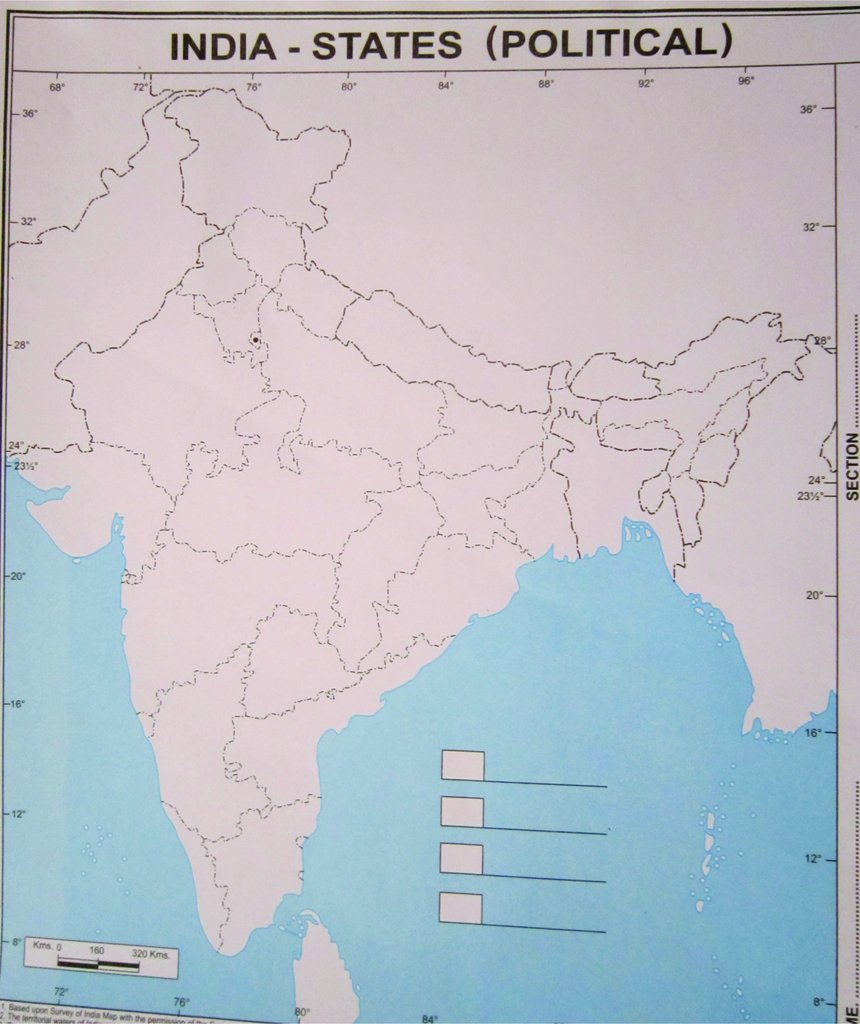 blank india political map with states Generic Practice Map India States Political Set Of 100 Maps blank india political map with states