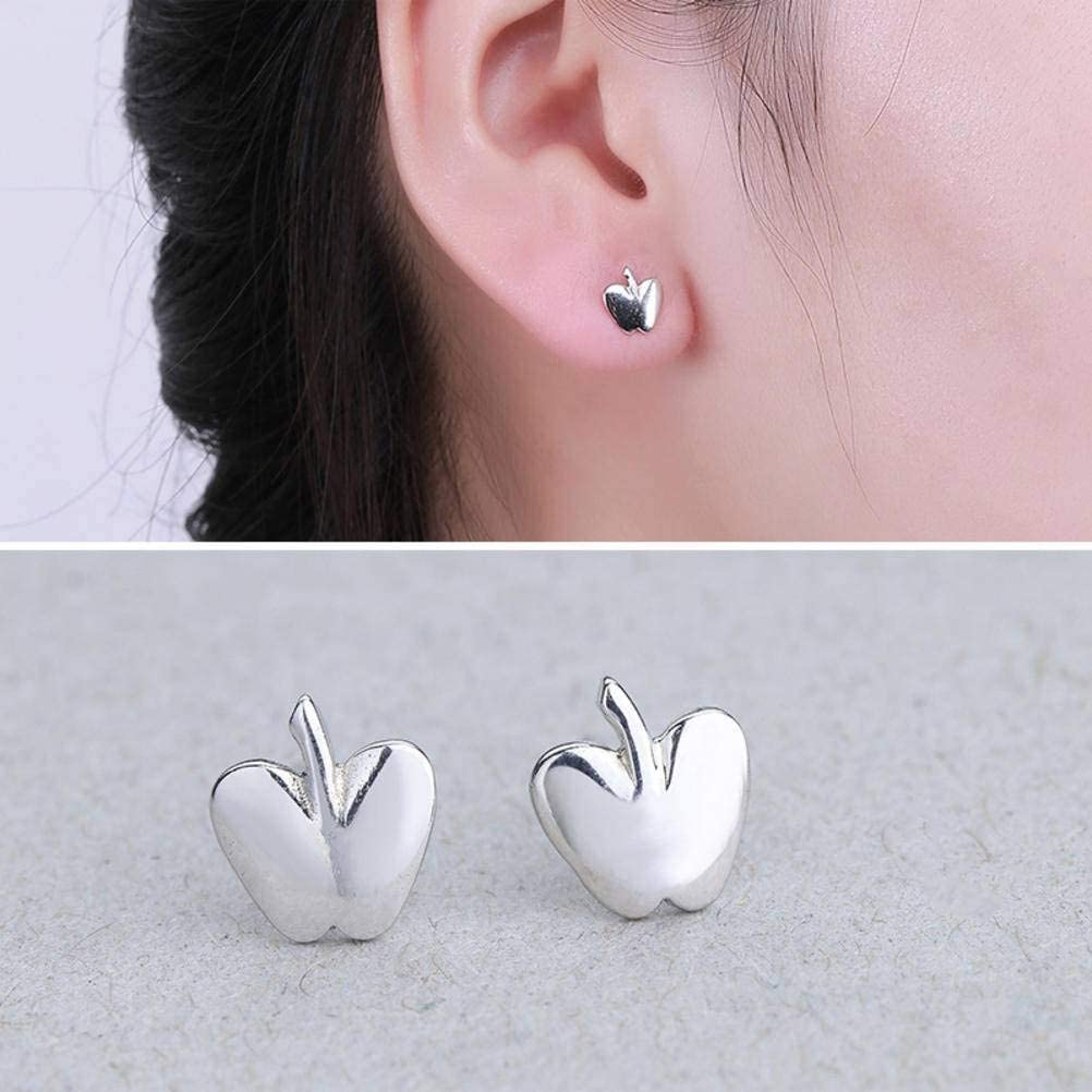 WOZUIMEI Earring Dangler Eardrop Stud Earring S925 Sterling Silver Stud Earrings - Apple Fashion Stud Earrings for Women