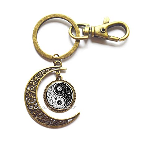 Amazon.com: Llavero Tai Ji Yin Yang Moon, accesorios de ...