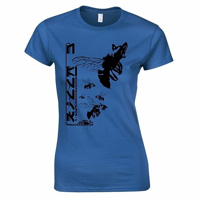 Bang Tidy Clothing Camiseta de Mujer en Azul Oscuro Talla S con mutante Perro-Abeja