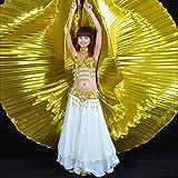 Calcifer® marca nueva egipcio Egipto alas para danza del vientre Isis alas disfraz–para gran fiesta de regalo (oro)