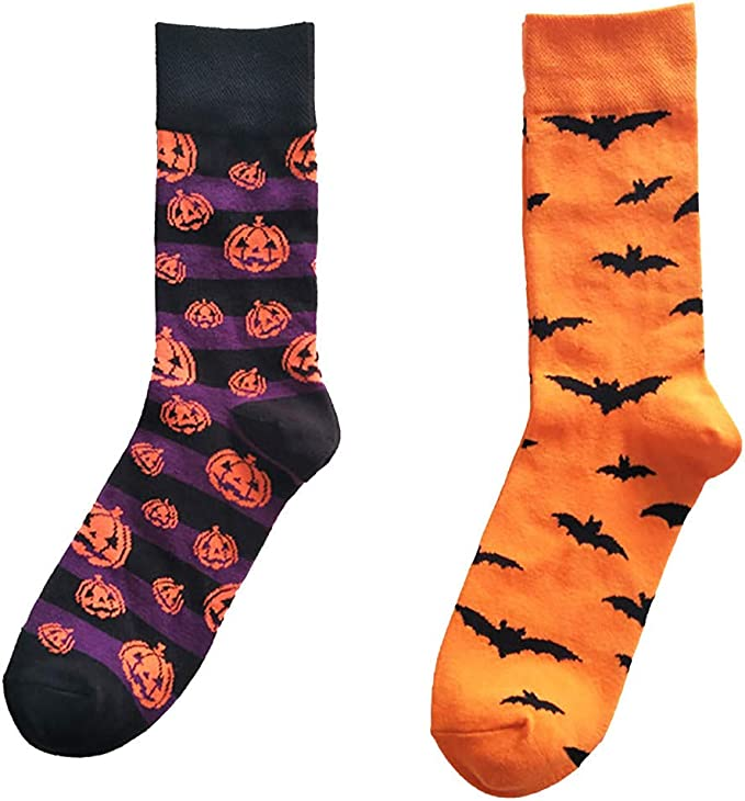 DOGZI Calcetines de deporte, Halloween Dibujos animados Hombres y mujeres Algodón Medias calcetines Bate Sudor Transpirable Calcetines de algodon: Amazon.es: Ropa y accesorios