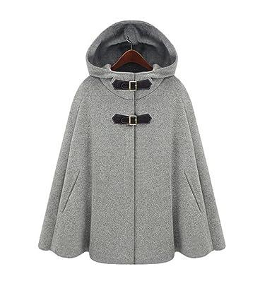 Veste cape laine femme