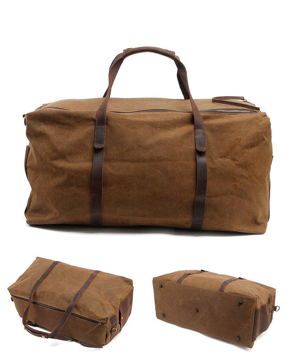 Genda 2Archer Oversized Canvas Travel Tote Duffel Shoulder Handbag Weekend Bag