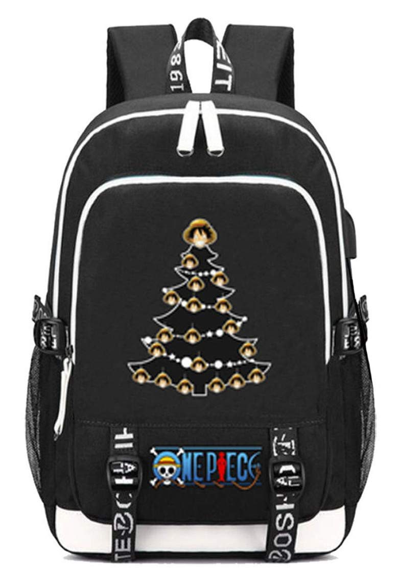 One Piece  13 Cosstars One Piece Anime Rucksack Schoolbag Laptop Backpack with USB Charging Port and Headphone Jack  16