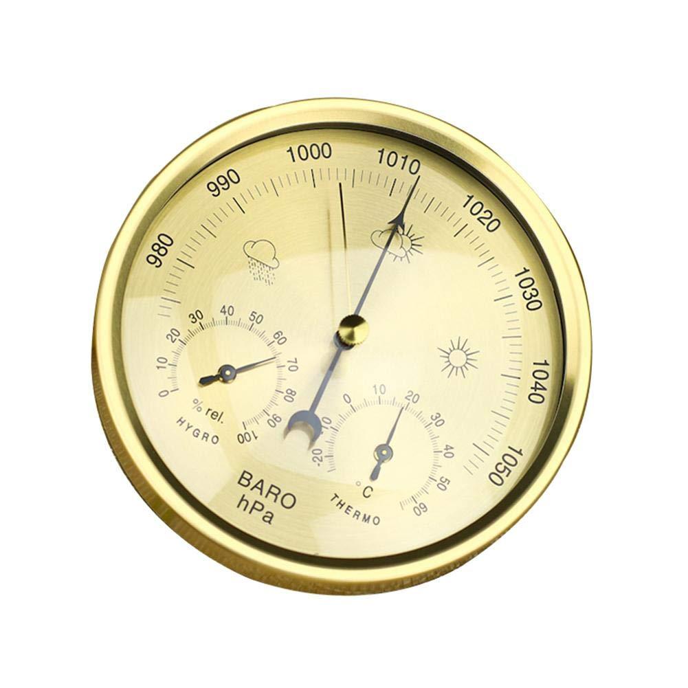 EZIZB Medidor De Presi/ón De Aire 3 En 1 Term/ómetro Probador De Humedad para Medidor De Presi/ón Atmosf/érica De Bar/ómetro Interior Y Exterior