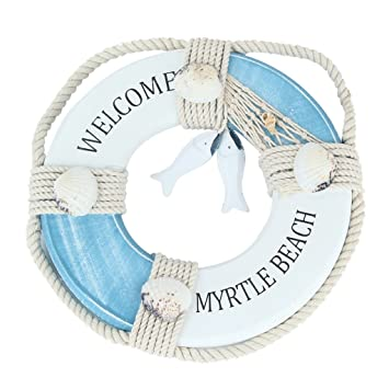 MagiDeal Welcome Flotador Anillo Barco náutico Colgante decoración Pared artesanía
