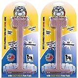 Bullibone Nylon Dog Chew Toy Beef Large Nylon Bone - 2 Pack - Improves Dental Hygiene, Easy to Grip Bottom, and Permeated with Flavor