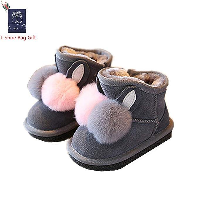 Morbuy Botas de Nieve para Niñas, Zapatos Invierno Niño Felpa ...