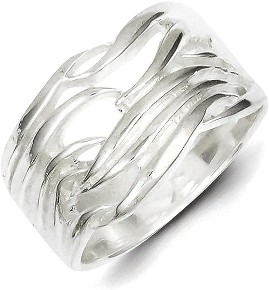 Lex /& Lu Sterling Silver Solid Fancy Ring