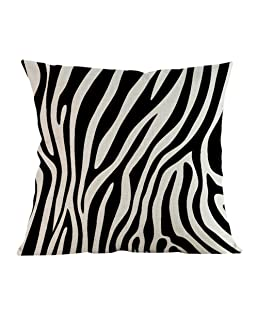 Matefield Zebra Stripe Print Pillow case Pillowslip vita cuscino Home Decor B