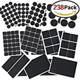 UINSTONE Furniture Pads #Self-Stick #HEAVY DUTY #ANTI-SLIP #FULL SIZES / 238 pieces in one pack / BEST FLOOR & CARPET PROTECTOR
