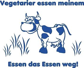 GRAZDesign Küche Aufkleber mit Kuh - Aufkleber Küche Vegetarier ...