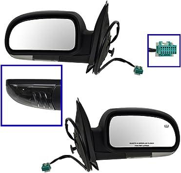 Side View Mirror Left//Right Pair Set Folding Power Heated for Trailblazer Envoy