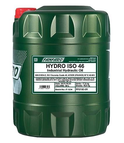 1 x 20L fanfaro Hydro ISO VG 46/6012-X1 HLP: Amazon.es: Coche y moto