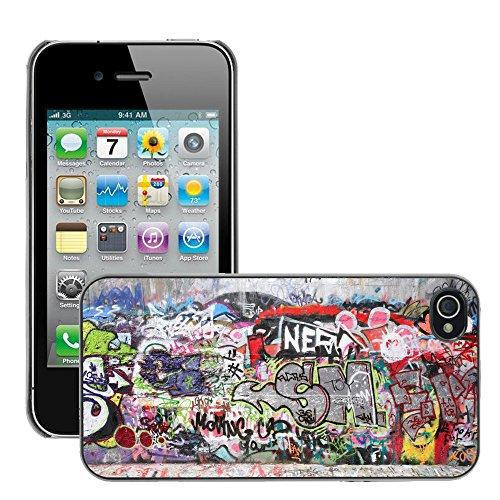 Premio Sottile Slim Cassa Custodia Case Cover Shell // V00002333 graffiti Ville // Apple iPhone 4 4S 4G