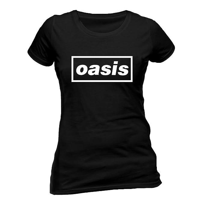 Ladies Oasis Logo Liam Noel Gallagher Rock Oficial Camiseta Mujeres señoras: Amazon.es: Ropa y accesorios