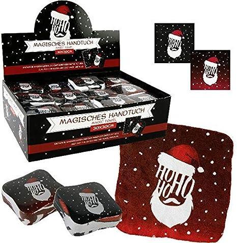 HO HO HO mágico Toalla, 4 unidades, toalla de Navidad, regalo de Navidad: Amazon.es: Hogar