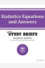 Statistics Equations and Answers Kindle Edition
