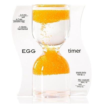 amazon com paradox 10 minute egg timer hourglass sand flows
