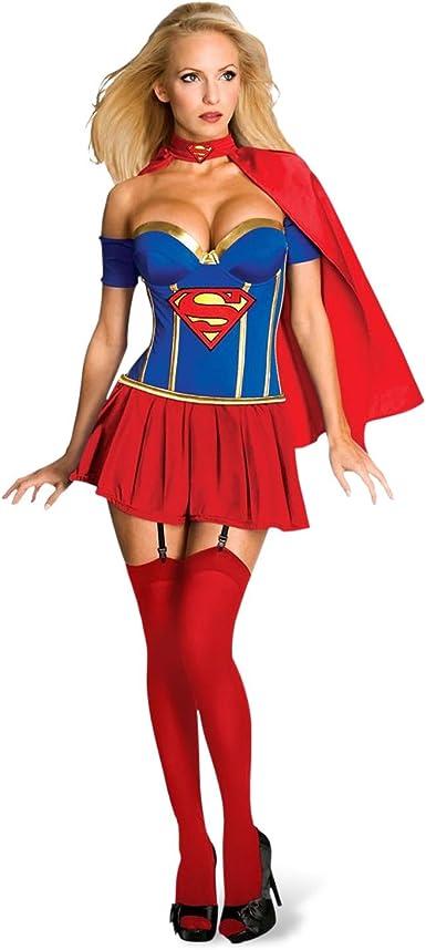 Supergirl-Disfraz de Superman con Corset-para mujer multicolor 36 ...