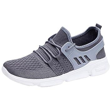 LuckyGirls Zapatillas de Correr Malla Patchwork Calzado de Deportivo Transpirables Zapatos con Cordones Moda Bambas de Running de Las Hombres: Amazon.es: ...
