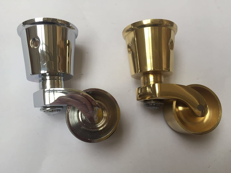Ironmongery World® 30 mm latón Vintage Old tradicional taza Fit Rueda giratoria Caster, POLISHED BRASS: Amazon.es: Hogar