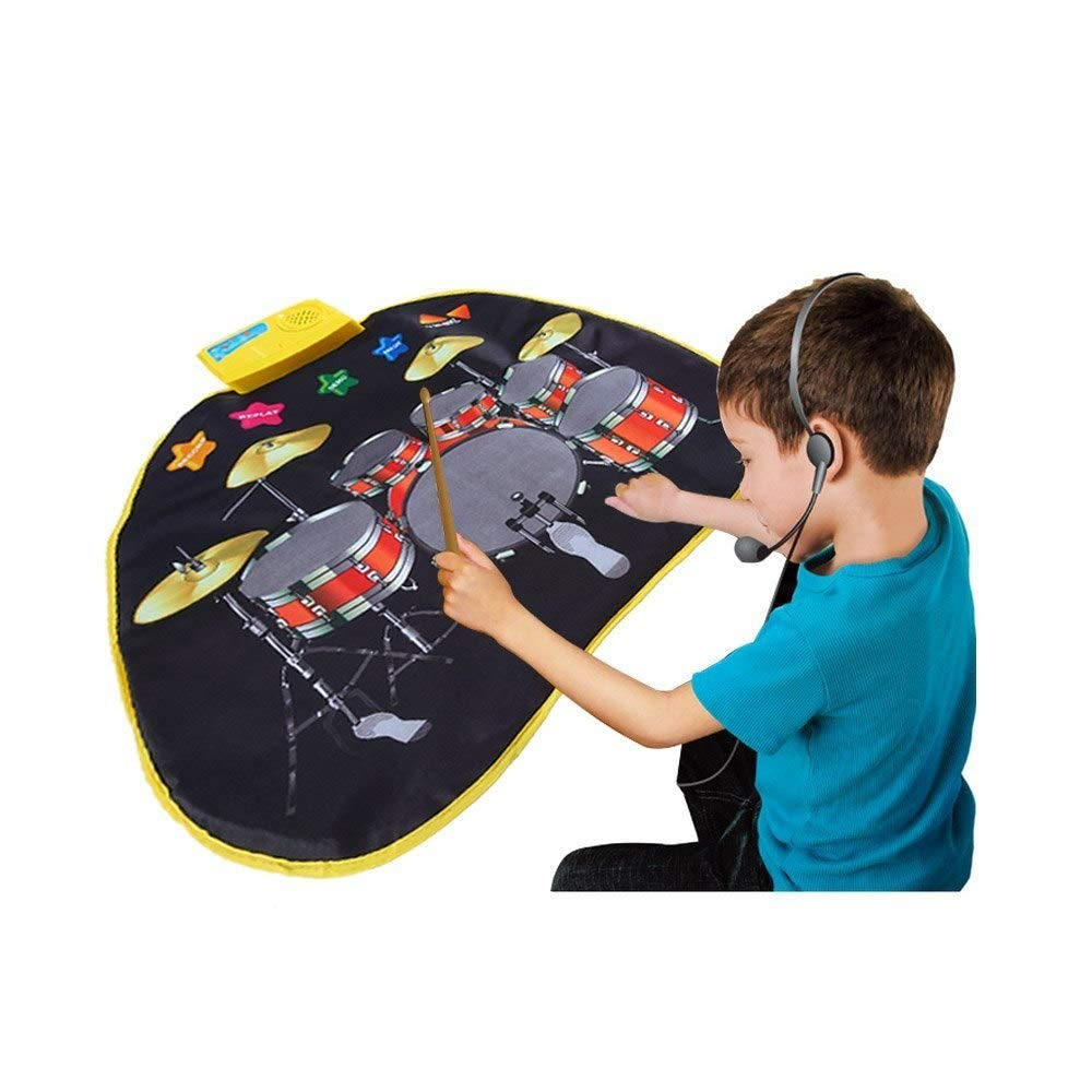 Electronic Musical Jazz Drum Mat Music Blanket Carpet Educational Toy Amazing Gifts for Boys & Girls and Baby Kids 72x62cmM