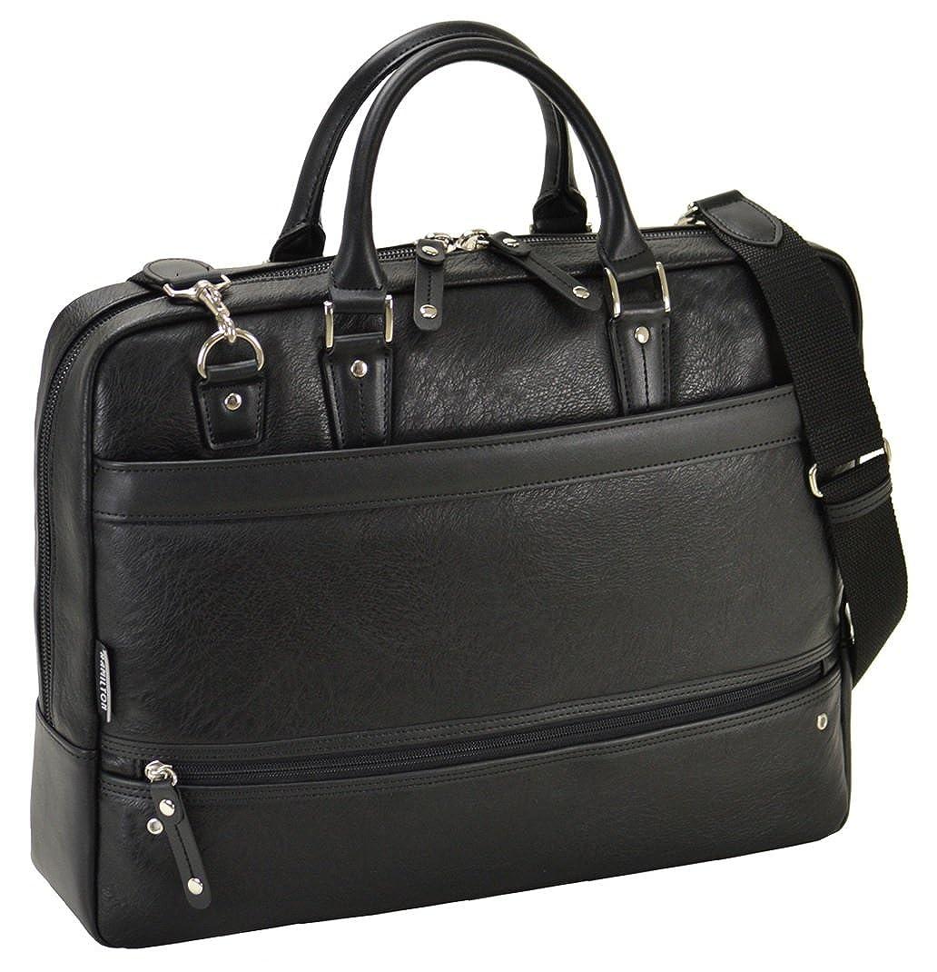 HAMILTON(ハミルトン) 合皮ビジネスバッグ 大開きタイプ B01N9ZMM95 ブラック ブラック