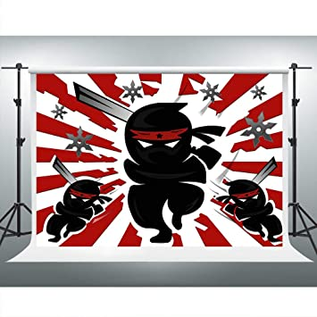 Amazon.com : Japanese Ninja Warrior Backdrop for Ninja ...